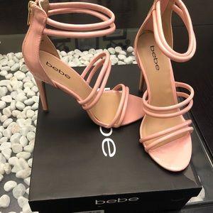 Baby Pink Bebe Heels